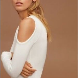Aritzia white cold shoulder top